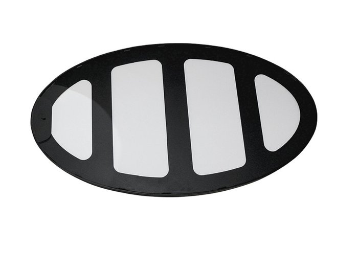 Настенное зеркало Лила 50х90 в раме черного цвета
