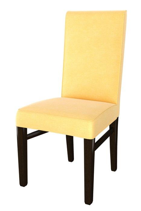 Стул мягкий Zanna желтого цвета