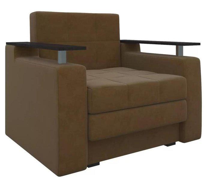 Кресло-кровать Мираж коричневого цвета