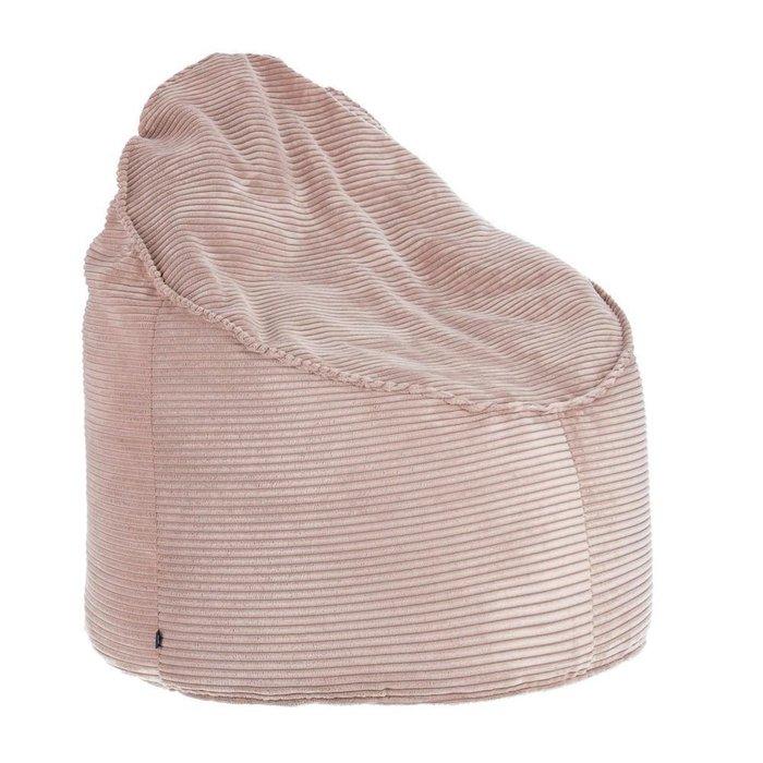 Бескаркасный пуф Marais розового цвета