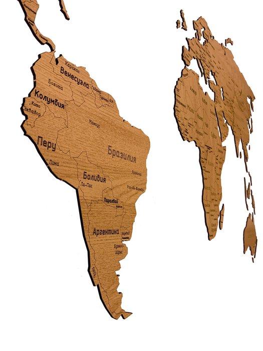 Деревянная карта Countries Rus с гравировкой цвета дуб