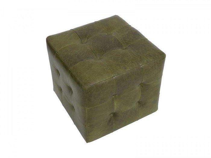 Пуф Brick Max с обивкой натуральной кожи