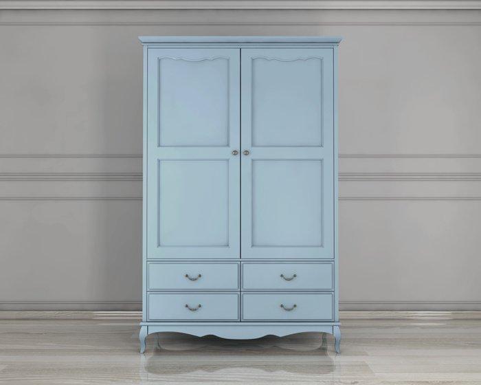Шкаф Leontina двустворчатый голубой из массива березы