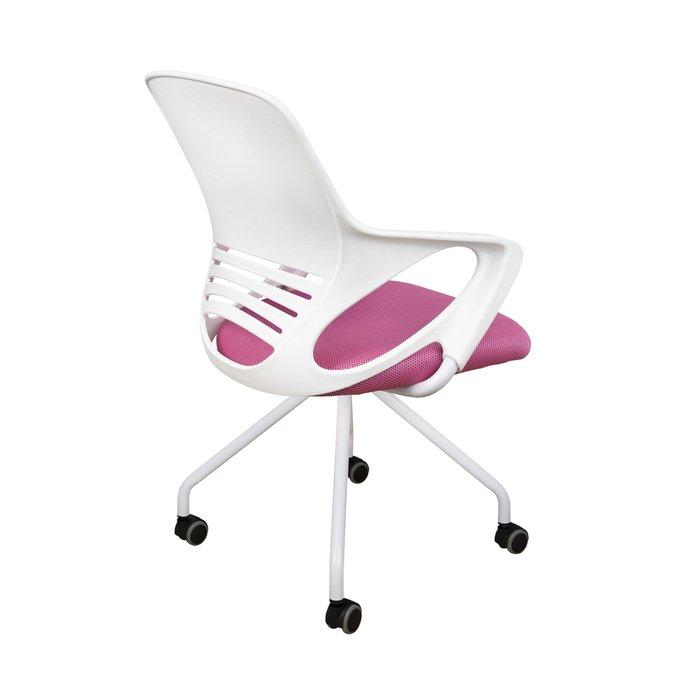 Кресло поворотное Indigo бело-розового цвета