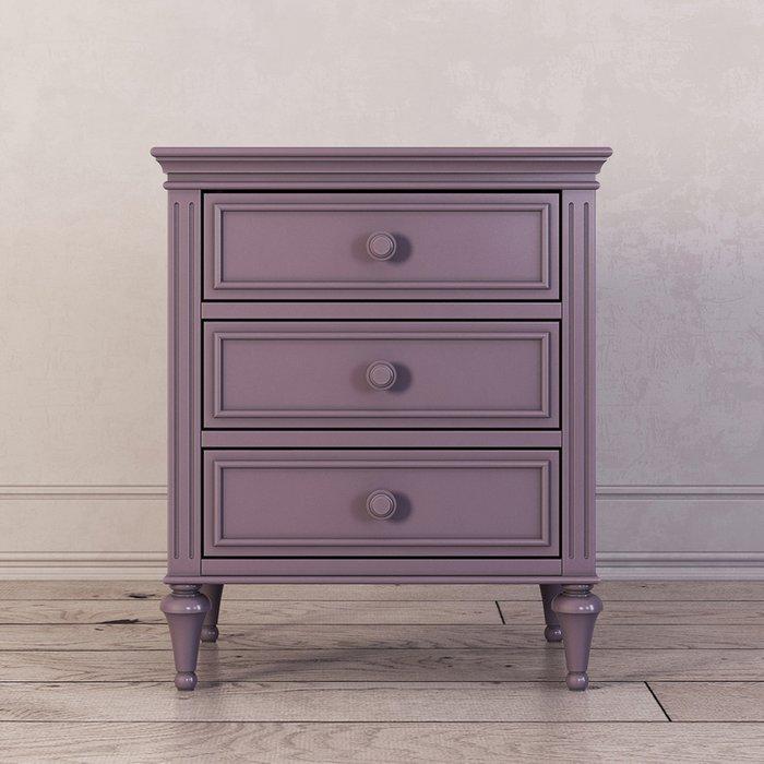 Тумба прикроватная с тремя ящиками Riverdi фиолетового цвета