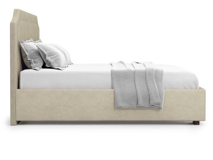 Кровать с подъемным механизмом Lago 160х200 бежевого цвета