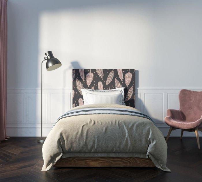 Кровать Berber 120х200 бежево-фиолетового цвета
