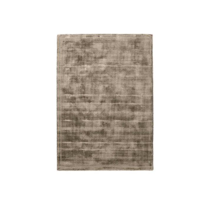 Ковер Izri с эффектом старины из вискозы каштанового цвета 120x170