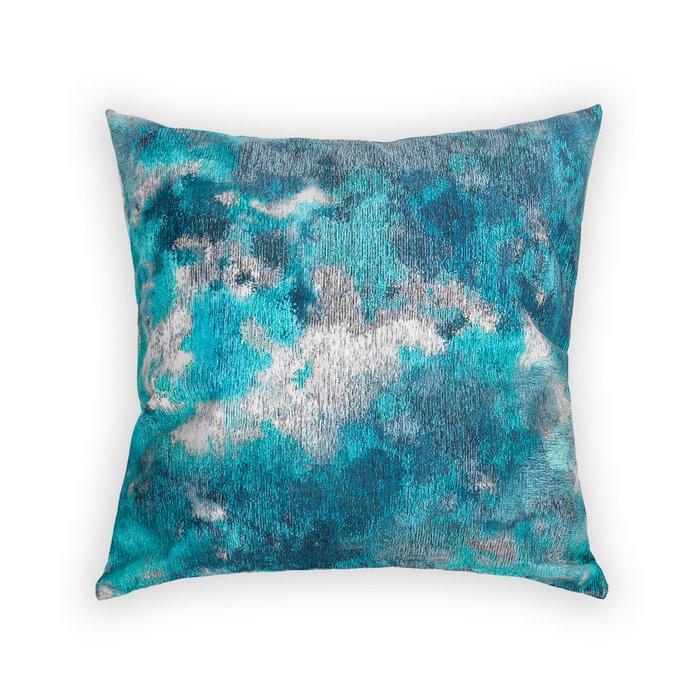 Декоративная подушка Delphi сине-бирюзового цвета