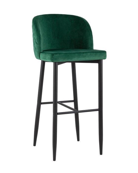 Барный стул Оскар изумрудного цвета