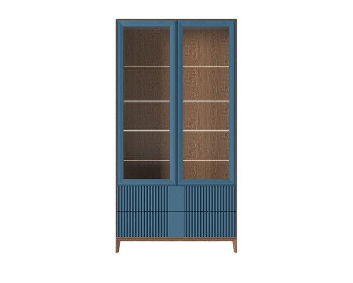 Шкаф-витрина The One Wave с фасадом оранжево-коричневого цвета