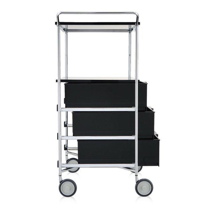 Комод Mobil темно-серого цвета на колесиках