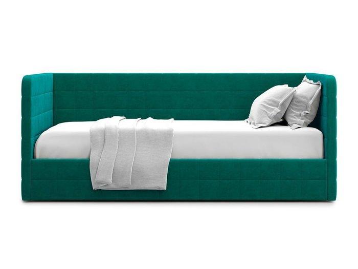 Кровать с подъемным механизмом Brenta 90х200 зеленого цвета