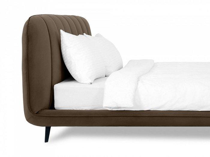 Кровать Amsterdam 160х200 темно-коричневого цвета