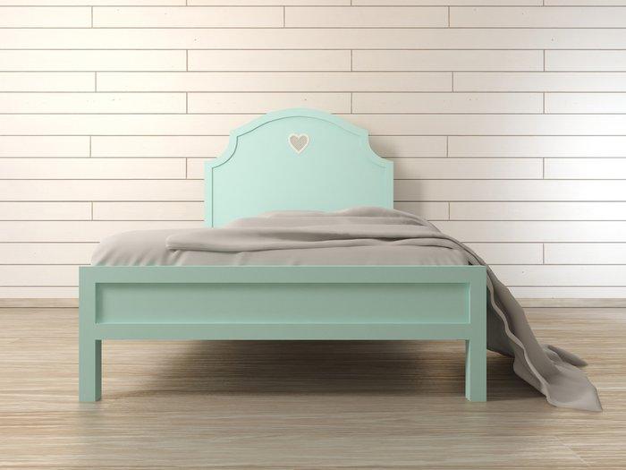 """Кровать """"Adelina"""" в мятном цвете 190х120 см"""