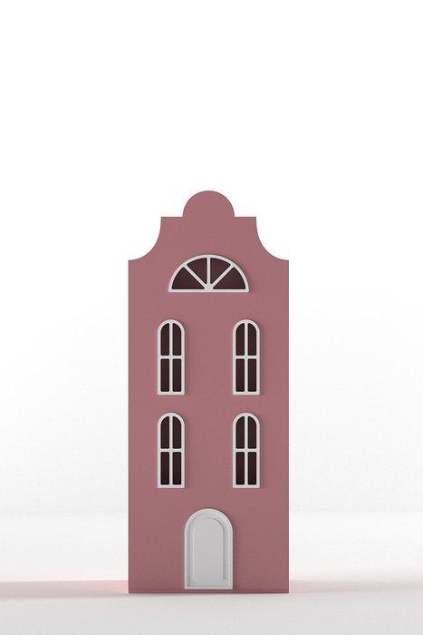 Шкаф-домик Стокгольм Mini темно розового цвета