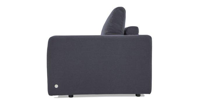 Прямой диван-кровать Бруно черного цвета
