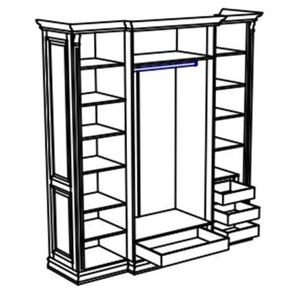 Шкаф четырехдверный Rimar цвета Лагуна