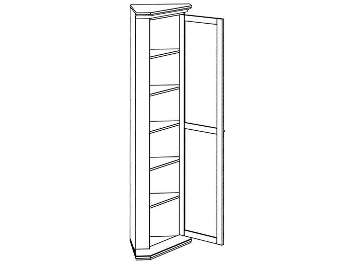 Шкаф угловой белого цвета
