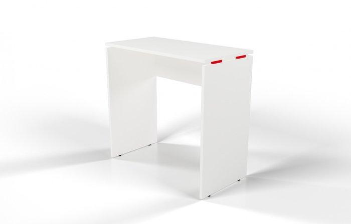 Стол барный белый с красной проставкой