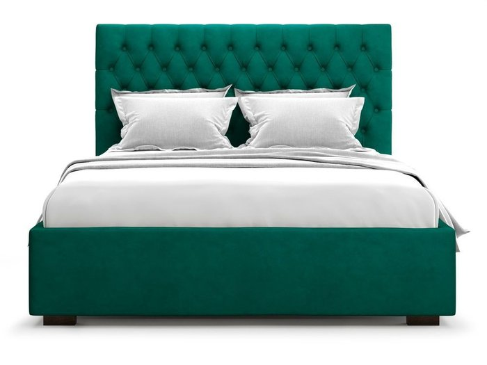 Кровать с подъемным механизмом Nemi 180х200 зеленого цвета
