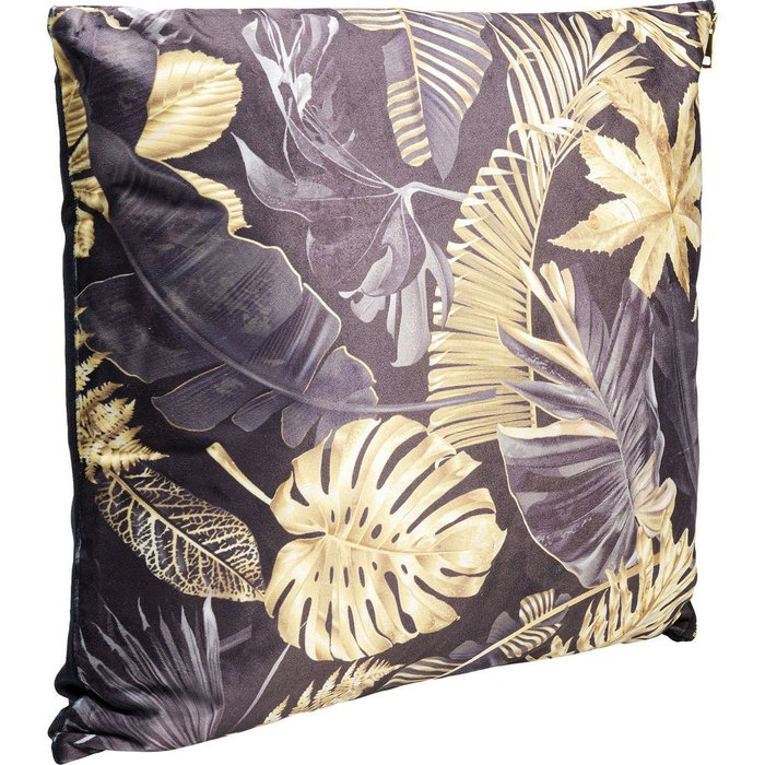 Подушка Autumn черно-золотого цвета