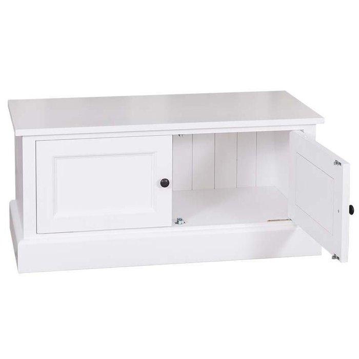 Нижняя тумба для шкафа в прихожую Брюгге белого цвета