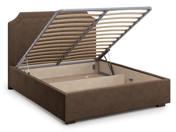 Кровать с подъемным механизмом Lago 140х200 коричневого цвета