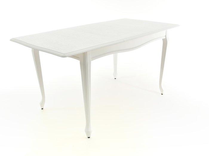 Раздвижной обеденный стол Кабриоль белого цвета