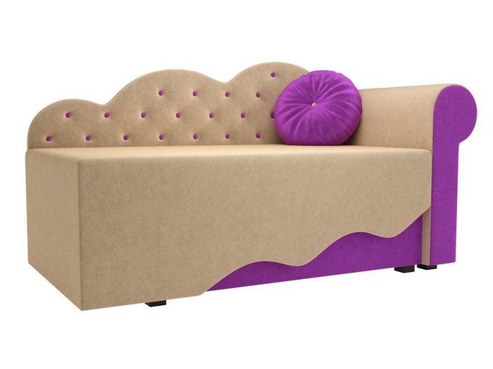 Диван-кровать Тедди бежево-фиолетового цвета