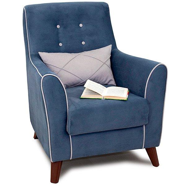 Кресло Френсис синего цвета
