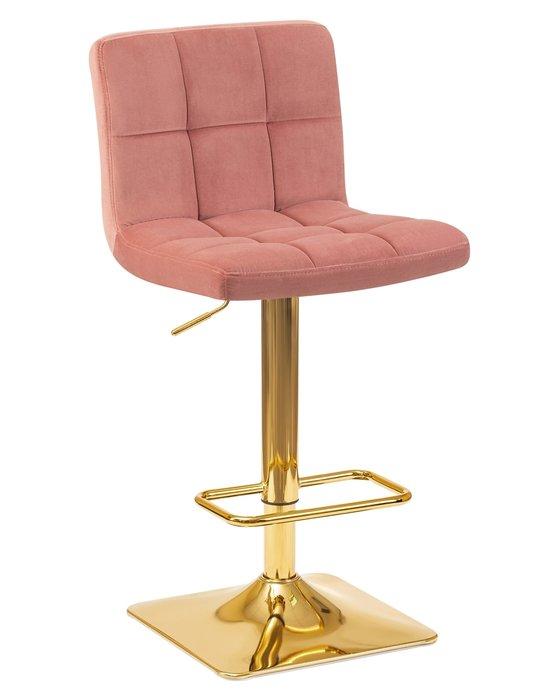 Стул барный Goldie розового цвета