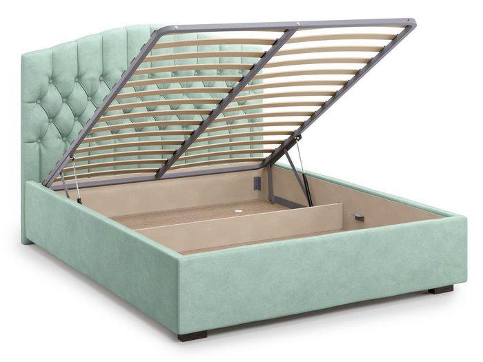 Кровать с подъемным механизмом Lugano 180х200 мятного цвета