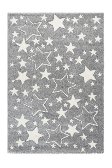 Детский ковер Amigo Stars Silver серого цвета 80х150