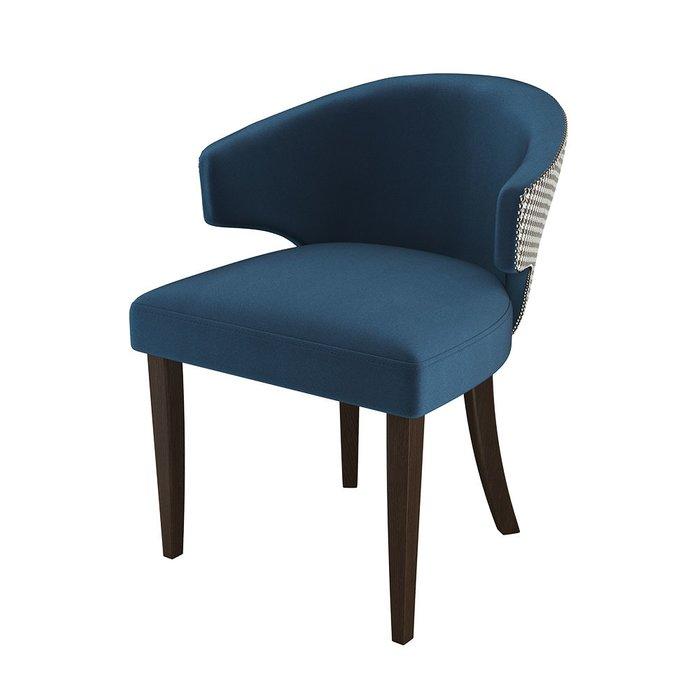 Стул-кресло мягкий Verbena серо-синего цвета