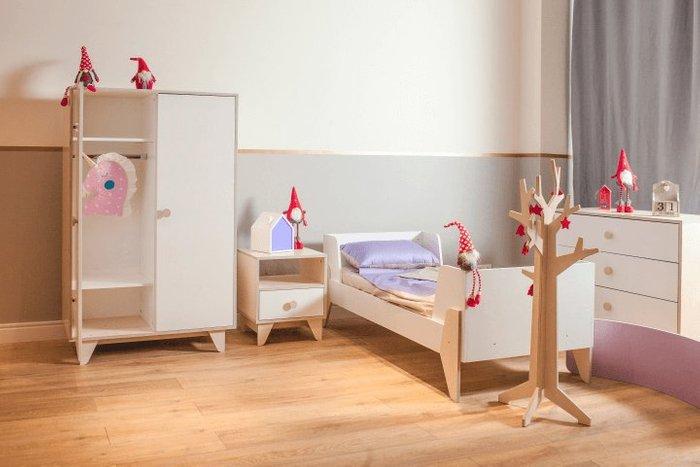 Кровать подростковая Line М молочного цвета