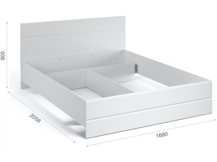 Кровать Йорк 160х200 белого цвета