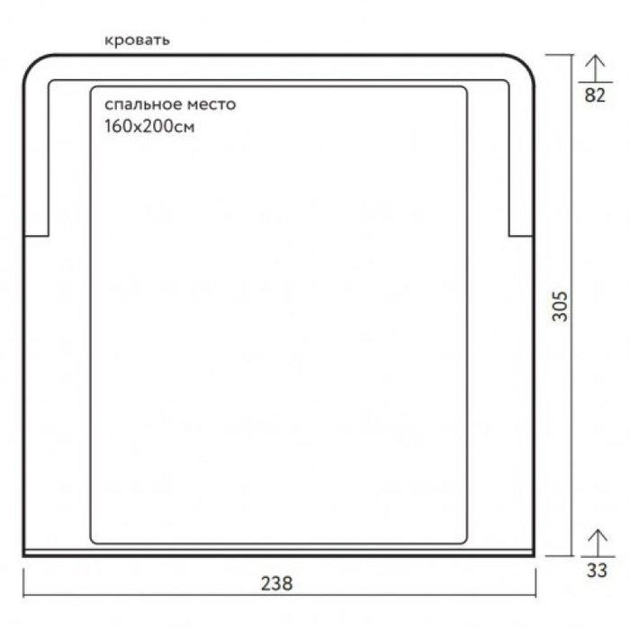 Кровать Бергамо с мягким изголовьем 160х200