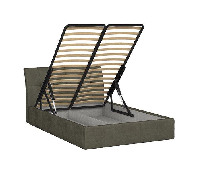 Кровать Инуа 140х200 темно-серого цвета  с подъемным механизмом