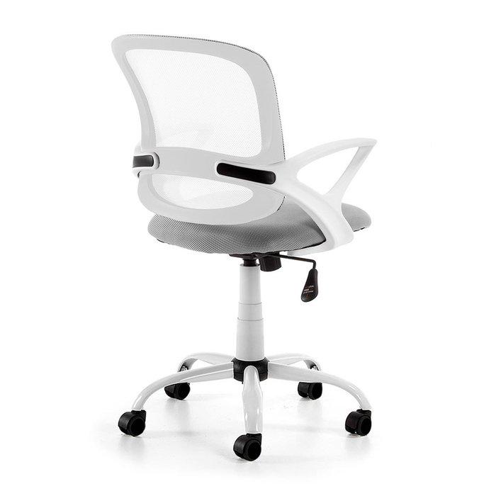 Поворотное кресло Lamberrt серо-белого цвета