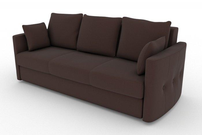 Прямой диван-кровать Луна коричневого цвета