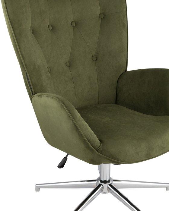 Кресло Филадельфия темно-зеленого цвета