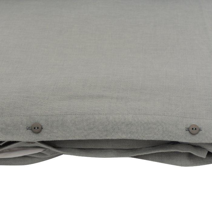 Пододеяльник изо льна серого цвета 150x220