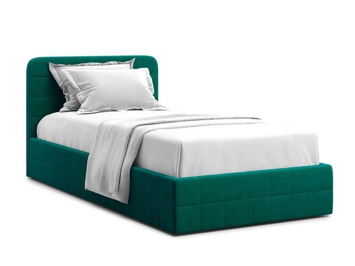 Кровать с подъемным механизмом Adda 90х200 зеленого цвета