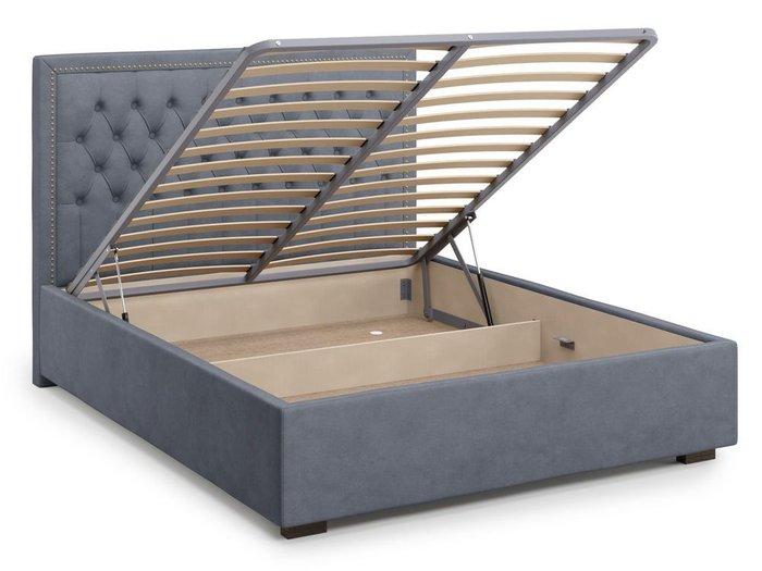 Кровать с подъемным механизмом Orto 180х200 серого цвета