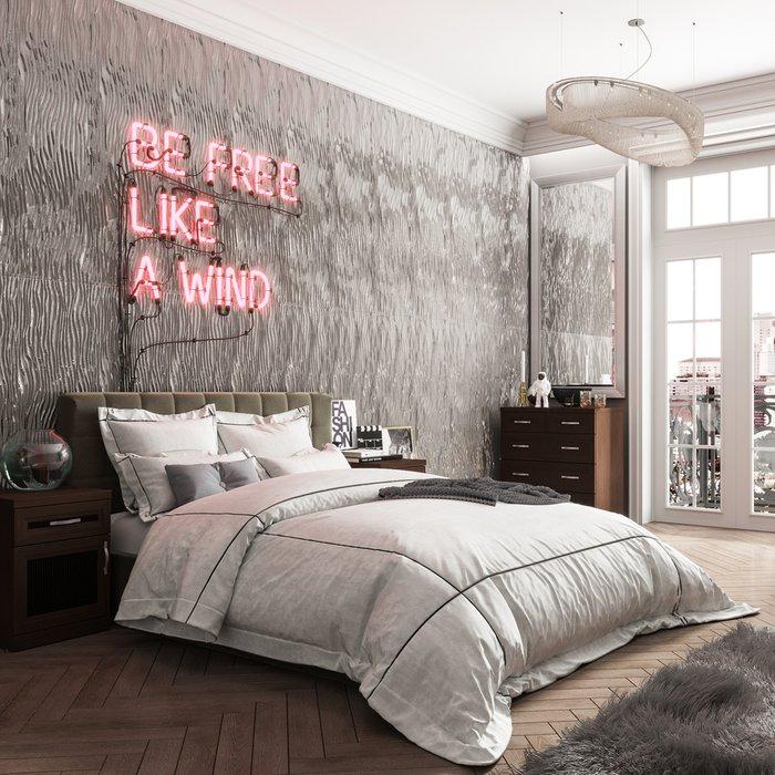 Кровать Инуа 120х200 темно-серого цвета с подъемным механизмом