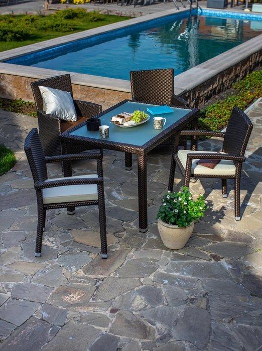 Кресло садовое Porto черного цвета