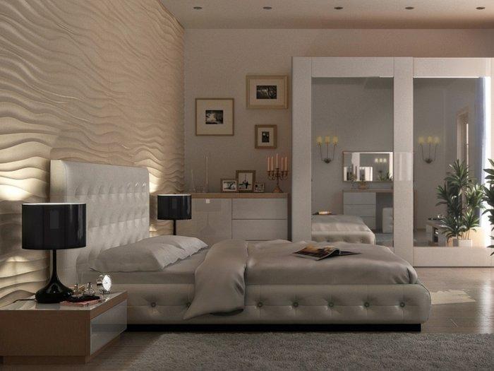 """Кровать """"Kristal"""" с подъёмным механизмом и ящиком для белья 160х200 см"""