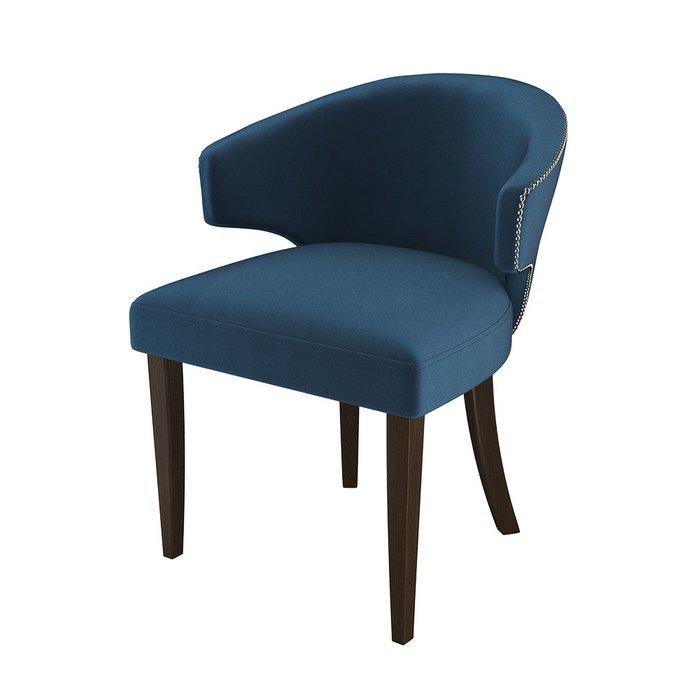 Стул-кресло мягкий Verbena синего цвета
