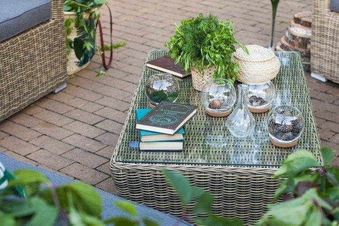 Журнальный столик Капучино соломенного цвета